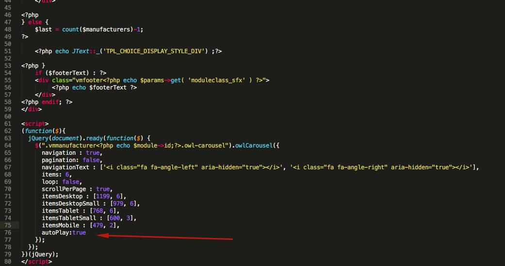 Autoplay VM Manufacturer module - JoomlArt