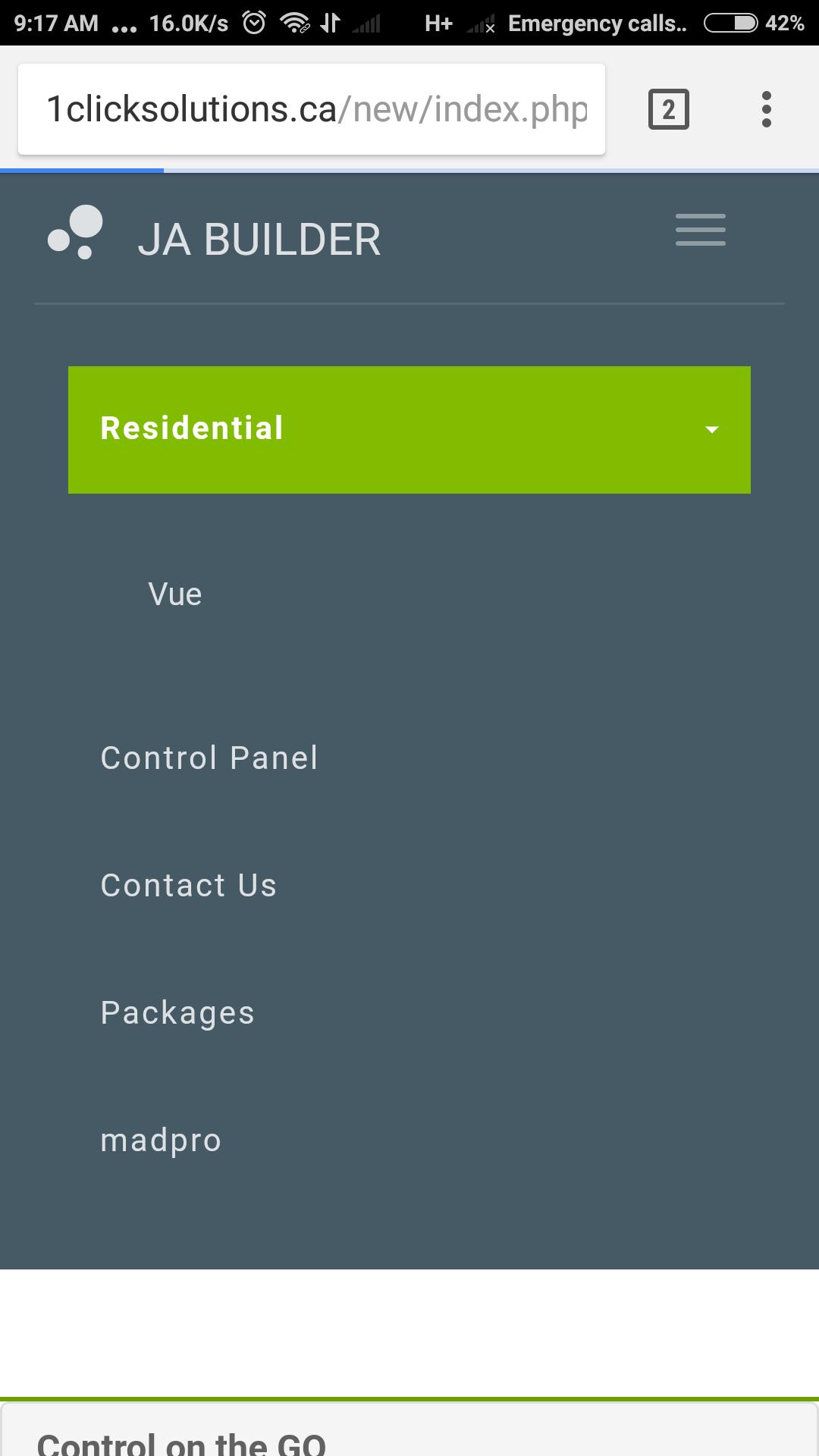 Sub menu items in header not working on mobile - JoomlArt