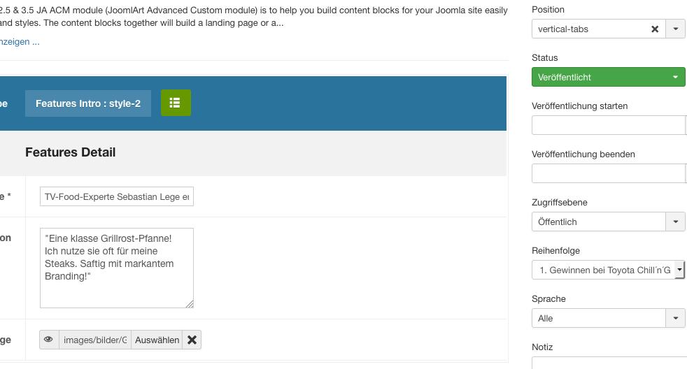 Vertical Tabs - no AC Module to see - JoomlArt
