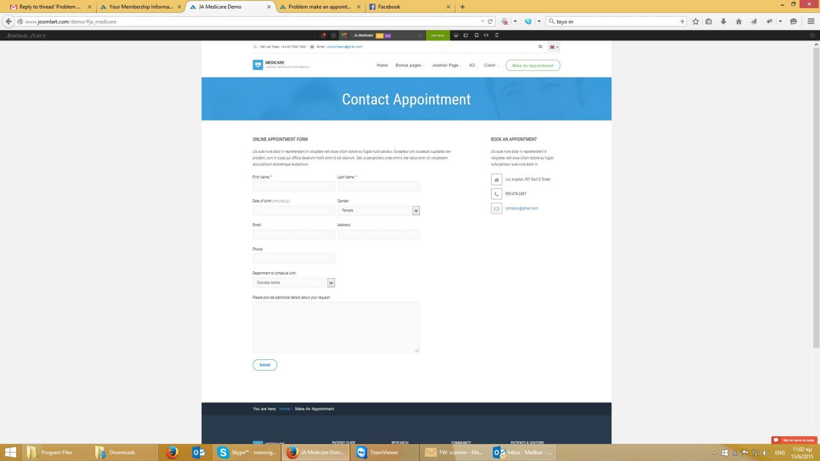 make an appointment!! - JoomlArt - photo#20