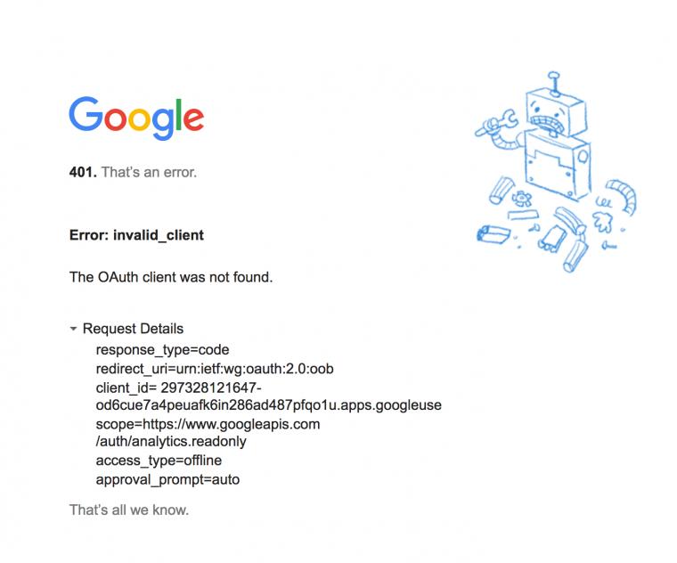 JA Google Analytics Reports Module - Access Code - Support
