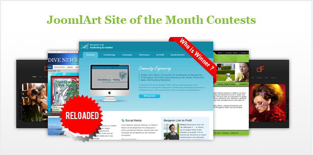JoomlArt Site of the Month Contest Reloaded