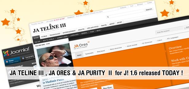 Joomla 1.6 Templates Release Round 3