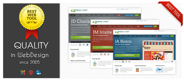 JoomlArt recommended as BEST WEB TEMPLATE