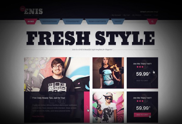 [Preview] JM Enis - Online Shop Magento Theme