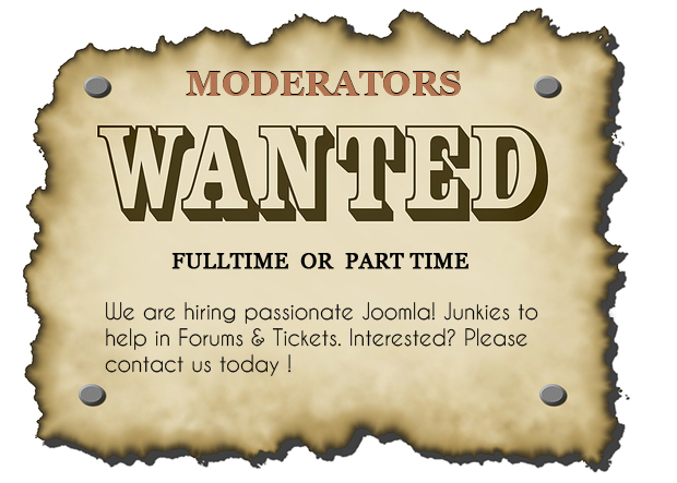 We are Hiring! Moderators wanted for JA Joomla Club
