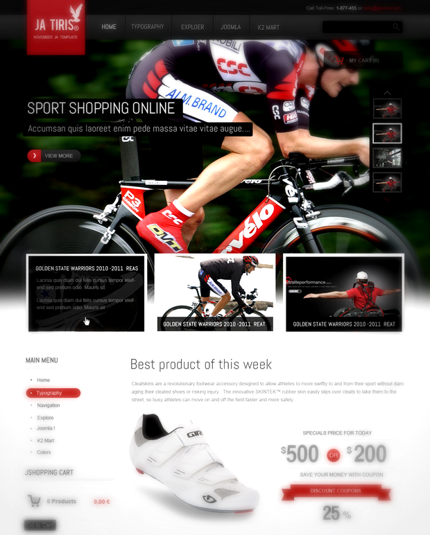 [Preview] JA Tiris - Joomshopping Online Shop Template