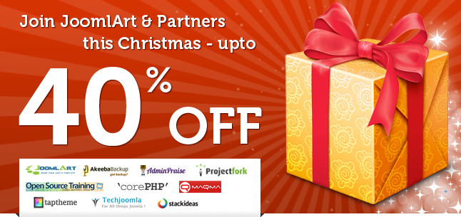Join JoomlArt & Partners this Christmas - Get 40 % OFF