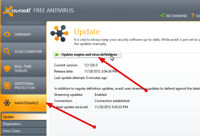 How to update Avast definition