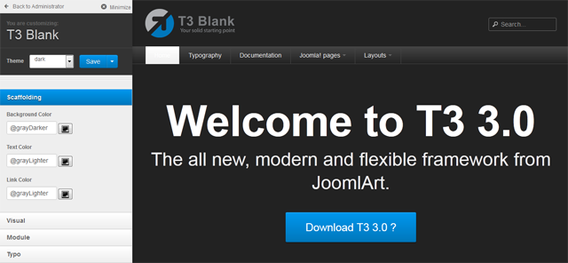 JA T3 3.0 Dark Theme