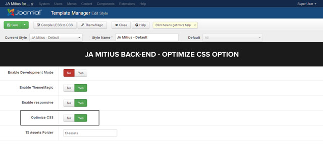 JA Mitius T3 back-end