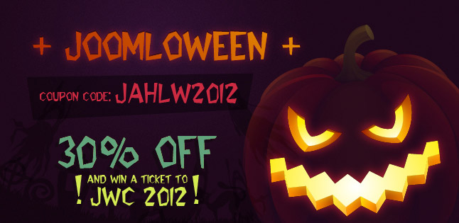Special Halloween Promotion and Free Joomla World Conference Tickets