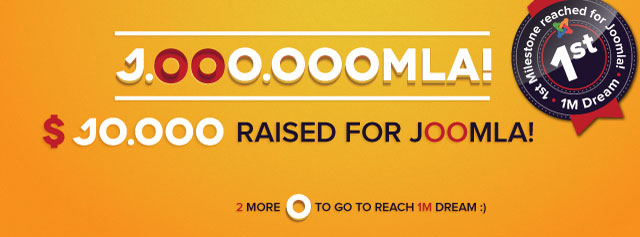 First goal 10,000 USD for Joomla