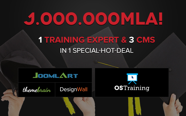 Joomla Humble Bundle - A special hot deal featuring OSTraining and JoomlArt, ThemeBrain, DesignWall