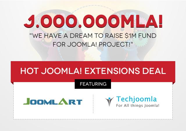 Joomla Humble Bundle - Hot Joomla Extensions deal featuring Techjoomla and JoomlArt