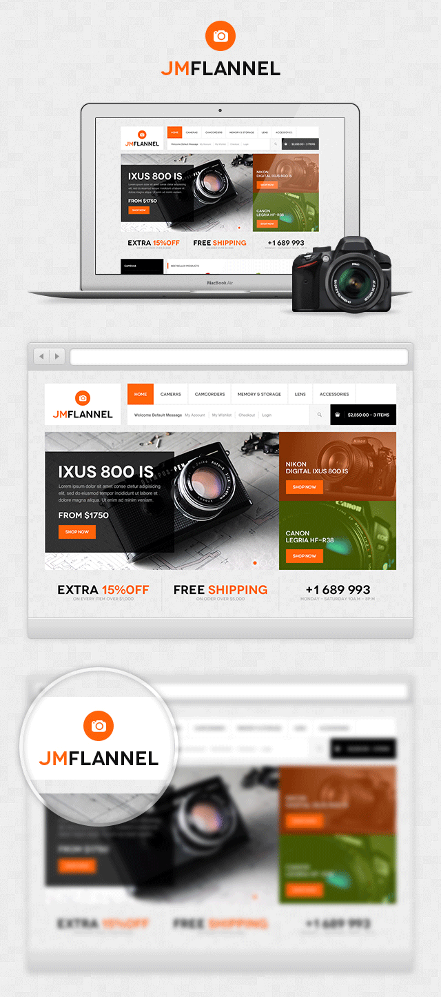 Quick look of Magento theme JM Flannel