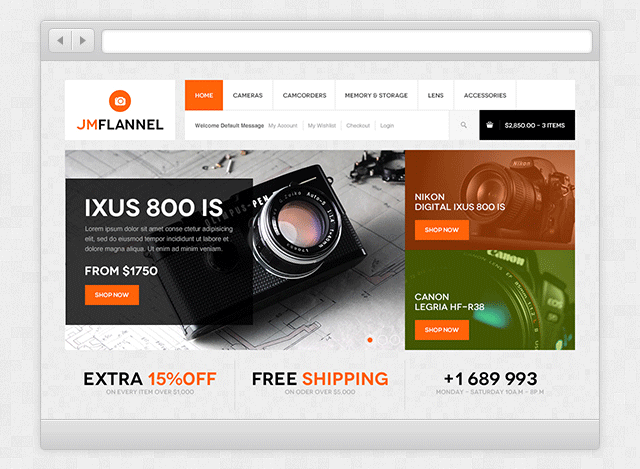 Responsive Magento Theme JM Flannel - Members' site showcase