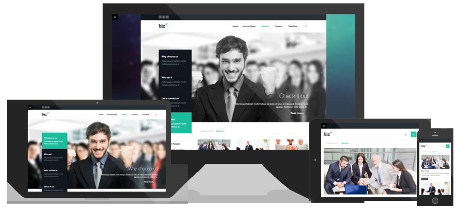 Review: Responsive Joomla template for business - JA Biz