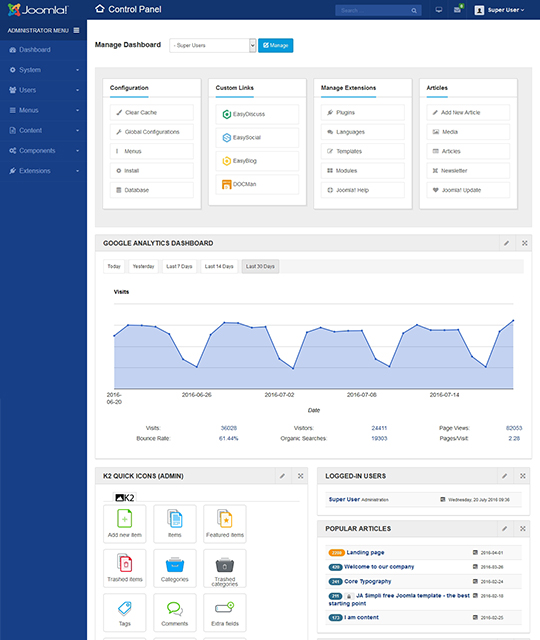joomla admin template ja admin joomla templates and extensions