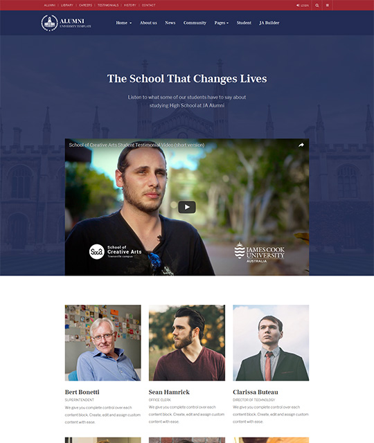 JA Alumni - Alumni Joomla template | Joomla Templates and Extensions ...