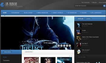 Movie Review Joomla Template - JA Anion