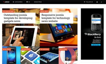 JA Argo - Responsive joomla template for blog or magazine