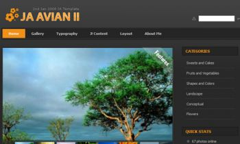 JA Avian - Joomla gallery showcase