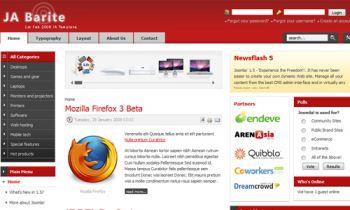 JA Barite - New Joomla 1.5 Portal presentation