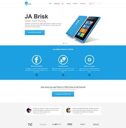 JA Brisk Joomla responsive template for business Joomla