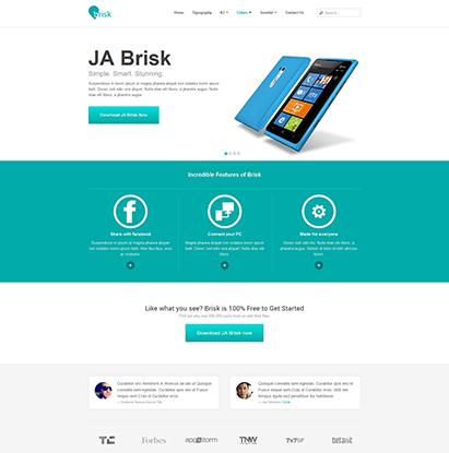 ja decor responsive joomla template ja brisk joomla responsive template for business