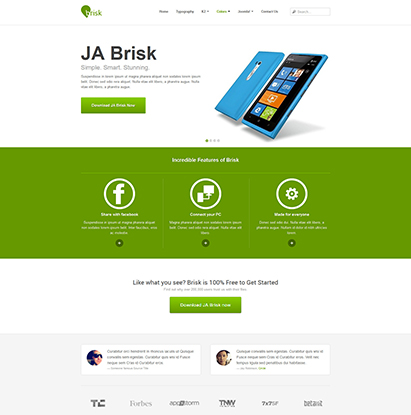 JA Brisk - Joomla responsive template for business | Joomla ...