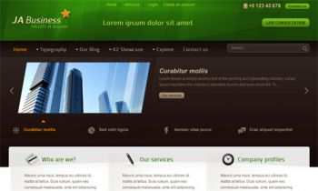 JA Business - Business Joomla Template