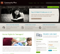 Education Social Joomla Template - JA Community Plus