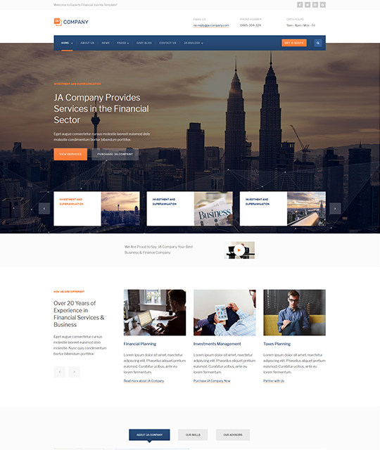 JA Company - Corporate and Business Joomla template | Joomla ...