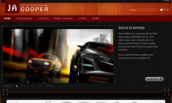 JA Cooper - Automotive news - 5 in 1 charming template
