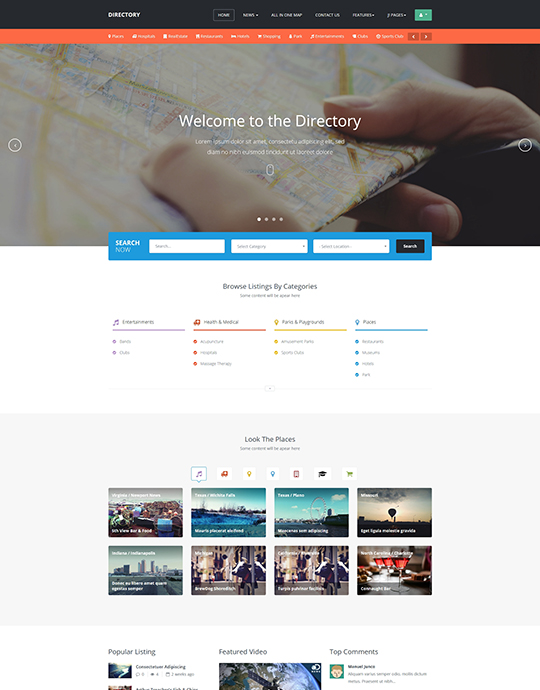 Directory template roho4senses ja directory responsive joomla template for directory joomla cheaphphosting Image collections
