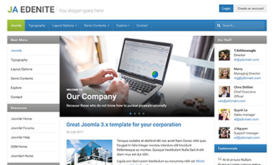JA Edenite II - Business Joomla Template