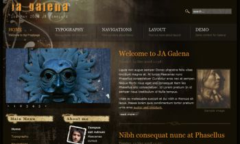 JA Galena - Feel the mystery inside a Joomla template