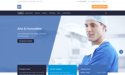 Responsive Joomla template for Healthcare - JA Healthcare