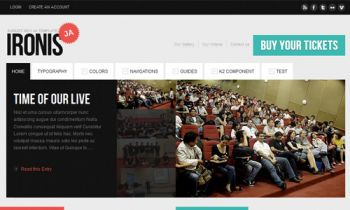 JA Ironis - Events & Blog Template