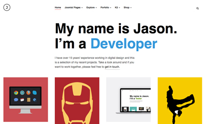 JA Jason - Responsive Joomla Template For Joomla 3 & 2.5