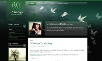 JA Koniga - Stylish Joomla blog template