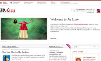 JA Lime - Blog site well - tuned with JA Comment