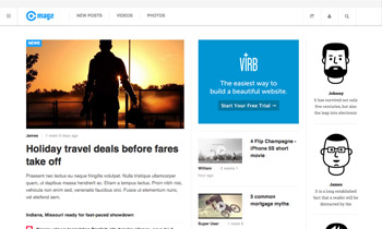 Joomla template for News & Magazine