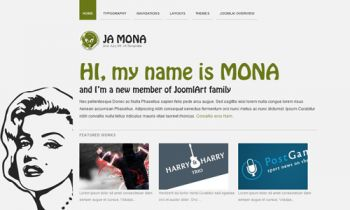 JA Mona - Renovated Joomla blog site - 10 (++) color themes