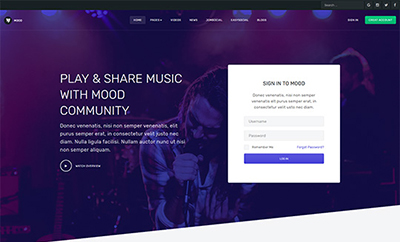 JA Mood - Community and Social Joomla template