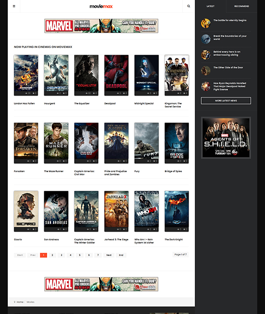 Responsive Movies Joomla template - JA Moviemax | Joomla Templates ...