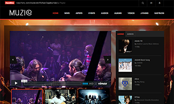 Joomla template for Music