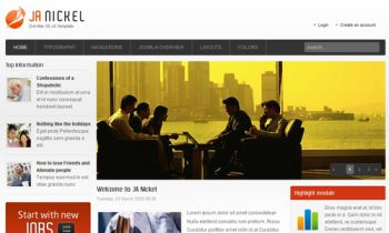 JA Nickel - Joomla Business Portal template