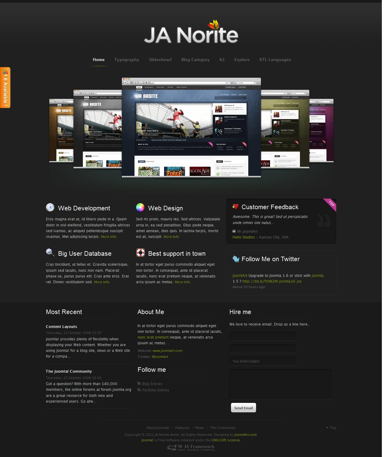 JA Norite - Grid based Joomla template   Joomla Templates and ...
